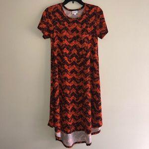 LulaRoe Orange Carly Dress XXS
